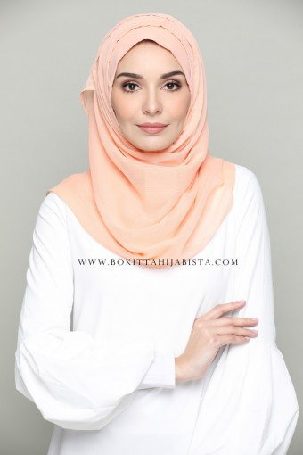 DUSTY CORAL-PLAIN SMOOTH CHIFFON