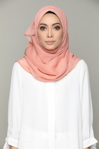 BRICK-PLAIN SMOOTH CHIFFON