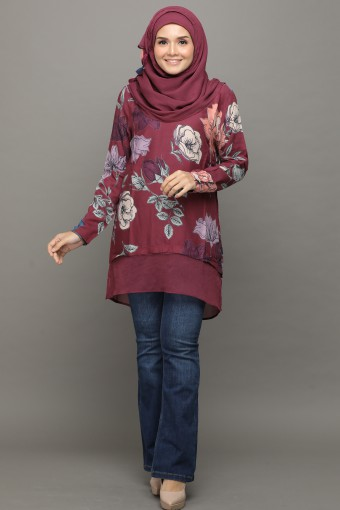 Jasmine Rose Obsession-Tunic  Vital-Printed Rayon Natural Fiber