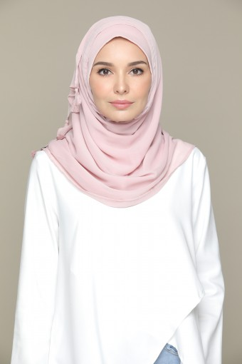 Pale Mauve Plain Smooth Chiffon