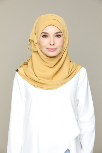 Honey Mustard Plain Smooth Chiffon