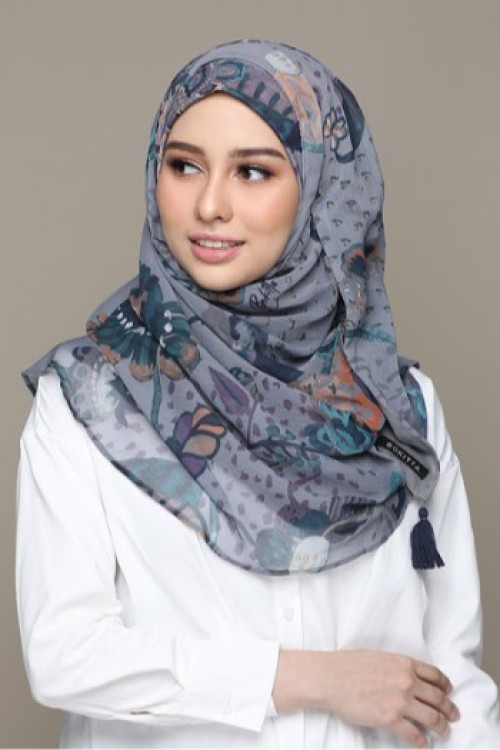 Imperial Silver - Printed HD Smooth Chiffon