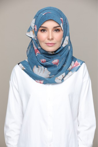 Eternal Blue- Printed HD Smooth Chiffon