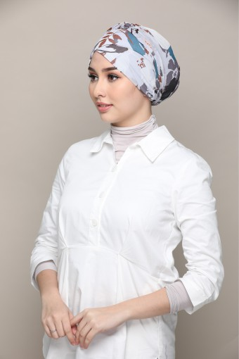 Vera Sky-Cap Shawl-Printed Smooth Chiffon