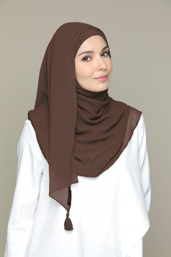 Chocolate-Plain Crepe Chiffon