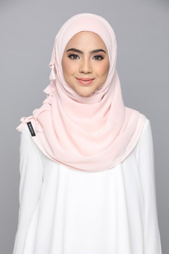 Peach Whip - Plain Smooth Chiffon