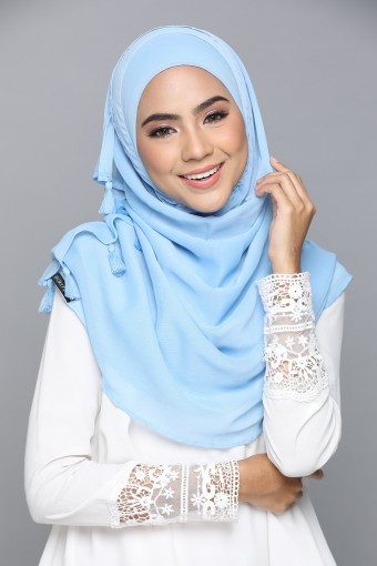 Dusk Blue - Smooth Chiffon