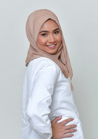 Blush-Basic Plain Lite Chiffon