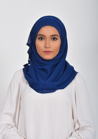 Madieval Blue-Plain Smooth Chiffon