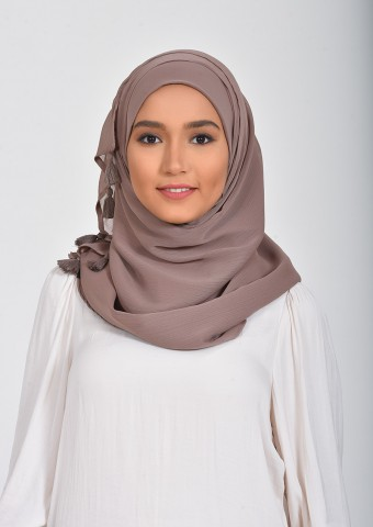 Deep Taupe-Plain Smooth Chiffon