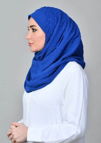 Falaki-Plain Crinkled Butti Chiffon