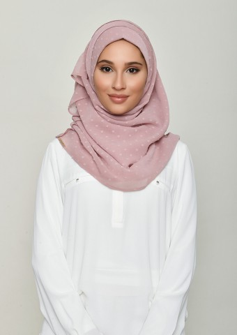 Nostalgia Rose-Plain Swiss Dot Chiffon