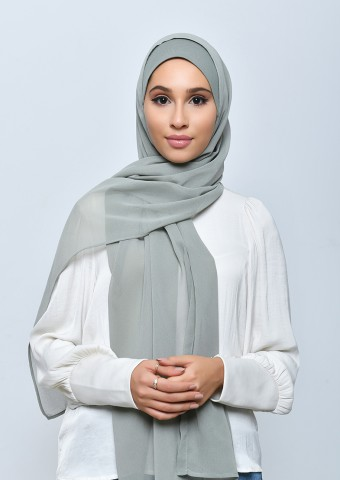 Sage-Freestyle with Inner-Plain Crepe Chiffon