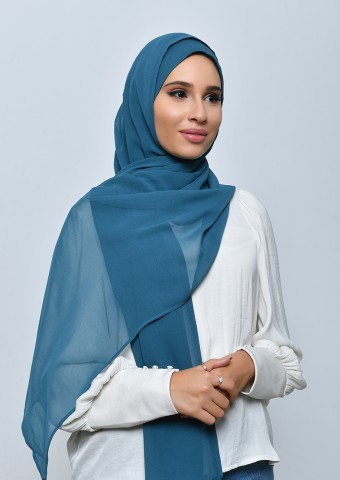 Sea-Freestyle with Inner-Plain Crepe Chiffon