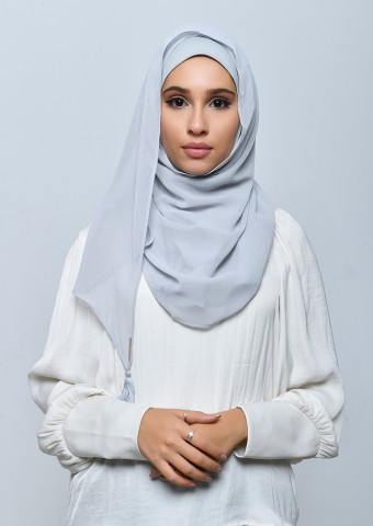 Pebble-Taj-Plain Crepe Chiffon
