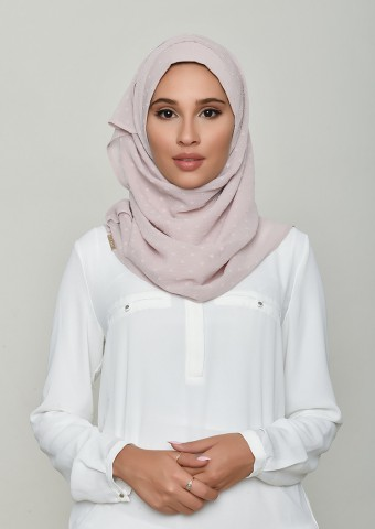 Rosana-Plain Swiss Dot Chiffon