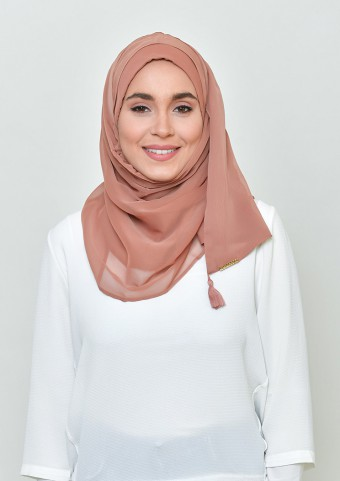 Sun-Kissed-Basic Plain Lite Chiffon